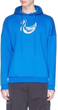 Cottweiler Holographic swan print hoodie