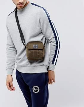 Asos Flight Bag With Front Pocket In Khaki
