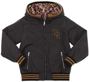 Dolce & Gabbana Patches Nylon Bomber Jacket