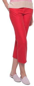 Akris Colette Straight-Leg Cotton-Silk Ankle Pants