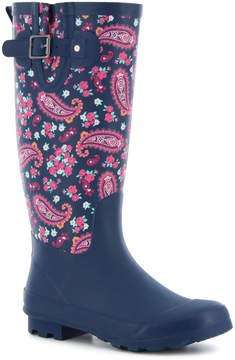 Western Chief Navy Pleasant Paisley Rain Boot - Women