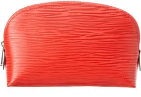 Louis Vuitton Orange Epi Leather Cosmetic Pouch