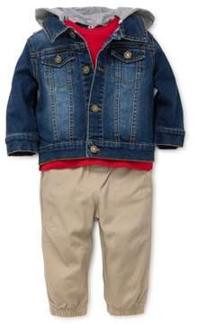 Little Me Baby Boy's Three-Piece Top Jacket & Pants Set