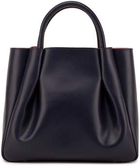 Alexandra de Curtis - Ashley Midi Ruched Tote Navy Blue
