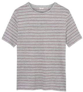Gant Men's Grey Linen T-shirt.