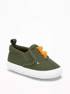 Old Navy Dinosaur Critter Slip-Ons for Baby