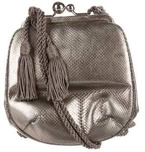 Judith Leiber Metallic Lizard Evening Bag