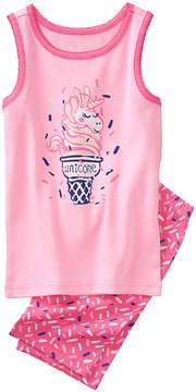 Gymboree Pink 'Unicone' Unicorn Pajama Set - Infant, Toddler & Girls