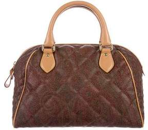 Etro Quilted Paisley Handle Bag