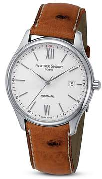 Frederique Constant Classics Index Watch with Ostrich Strap, 40mm