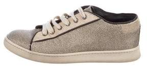 Brunello Cucinelli Metallic Low-Top Sneakers