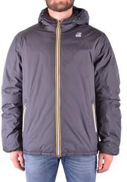 K-Way Men's Grey Polyamide Jacket.