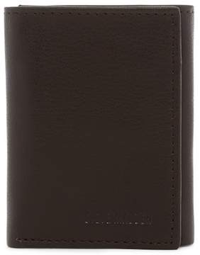 Steve Madden Smooth Grain Leather Tri-fold Wallet