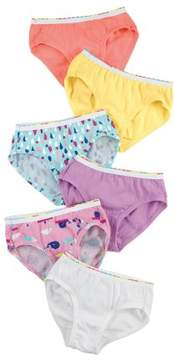 Hanes Toddler Girls' Assorted Briefs 6-Pack