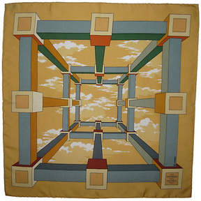 One Kings Lane Vintage HermAs Perspectives Pochette Scarf - The Emporium Ltd.