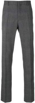 Calvin Klein Jeans stripe-detail checked trousers