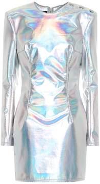 Balmain Faux leather minidress