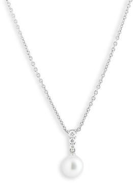Mikimoto Women's 'Morning Dew' Akoya Cultured Pearl & Diamond Pendant Necklace