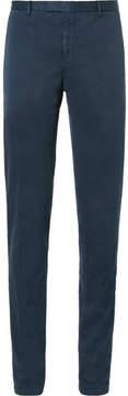 Boglioli Blue Slim-Fit Herringbone Stretch Cotton-Blend Suit Trousers