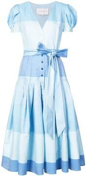 Carolina Herrera Button Down Tie Dress