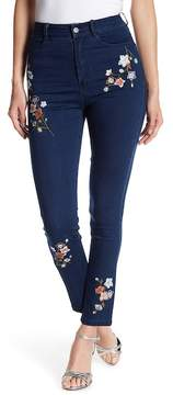Flying Tomato Embroidered Skinny Jeans