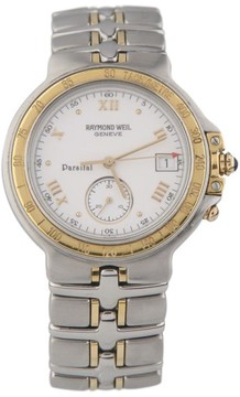 Raymond Weil Stainless Steel & Gold-Plated Tachymeter Quartz 32mm Watch