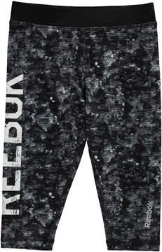 Reebok Sequin Print Capri Leggings