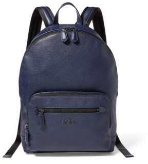 Ralph Lauren Pebbled Leather Backpack Blue One Size