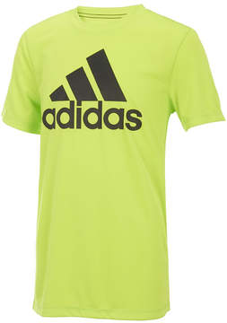 adidas Bright Yellow Climalite® Logo Badge of Sport Tee - Boys