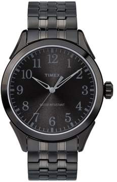 Timex Men's Briarwood Black Watch, Stainless Steel Expansion Band