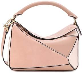 Loewe Puzzle Small leather and suede shoulder bag