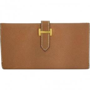 Hermes Béarn wallet - BROWN - STYLE