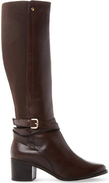 Dune Vivv stretch panel knee-high leather boots