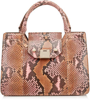 Jimmy Choo REBEL TOTE/S Nutmeg and Rosewater Degrade Painted Python Tote Bag
