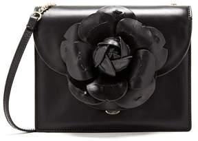 Oscar de la Renta Black Leather Pvc Mini Tro Bag
