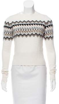 Autumn Cashmere Patterned Cashmere-Blend Sweater w/ Tags