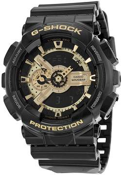 Casio G Shock Analog-Digital Dial Black and Gold Resin Men's Watch