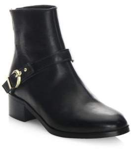 LK Bennett Buckled Leather Ankle Boots