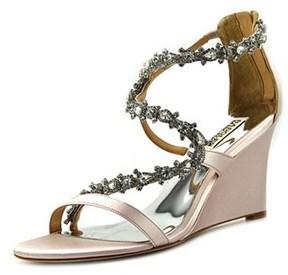 Badgley Mischka Bennet Open Toe Leather Wedge Sandal.