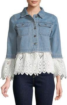 C&C California Women's Westly Bell-Sleeve Denim Jacket