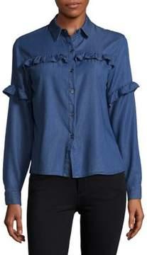 Buffalo David Bitton Frilled Button-Down Shirt