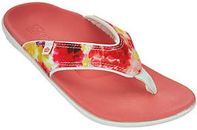 Spenco Orthotic Printed Thong Sandals - Yumi Bouquet