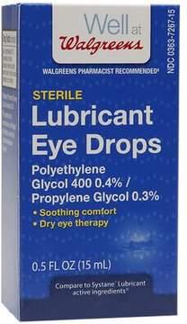 Walgreens Sterile Lubricant Eye Drops
