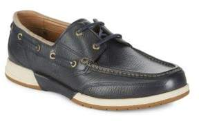 Tommy Bahama Moc Toe Leather Slip-On Boat Shoes