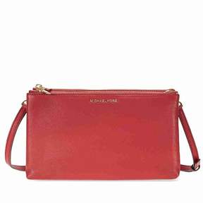 Michael Kors Adele Double Zip Crossbody - Burnt Red - ONE COLOR - STYLE
