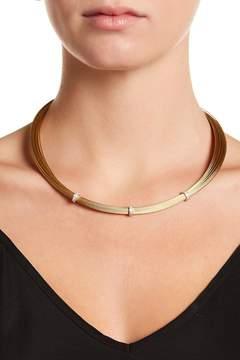 Alor 18K White Gold Diamond Detail Bead Multi Strand Necklace - 0.14 ctw