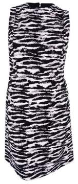 Nine West Women's Textured Zebra-Print Shift Dress