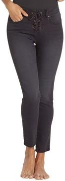Billabong Women's Side By Side Lace Up Skinny Jeans