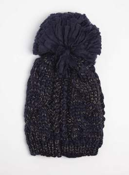 Dorothy Perkins Navy Cable Beanie Hat