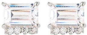 Crislu Sterling Silver Stud Earrings